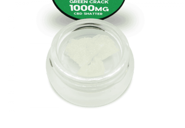 GREEN CRACK SHATTER 1000MG Hemp Extracted Pure Isolate