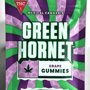 Green Hornet Gummies Fruit Punch Indica 100mg THC
