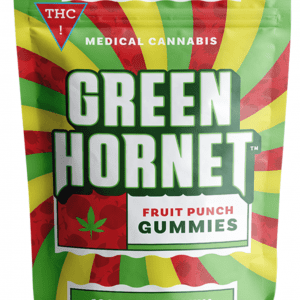 Green Hornet Gummies Fruit Punch Sativa 100mg THC