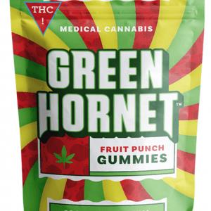 Green Hornet Gummies Fruit Punch Sativa 100mg THC
