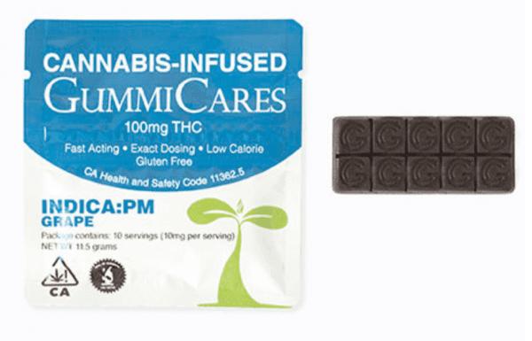 Gummi Care Indica PM Grape - 100mg THC