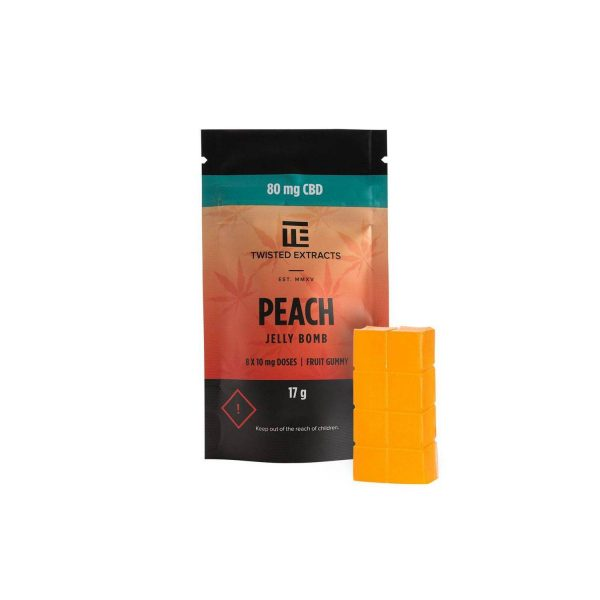 Buy Twisted Extracts CBD Peach Jelly Bomb