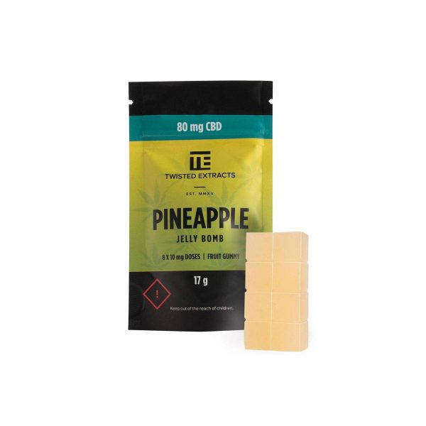 Twisted Extracts CBD Pineapple Jelly Bomb
