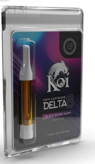 Black Berry Kush Koi Delta 8 THC Vape Cartridge