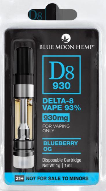 Blue Moon Hemp Delta 8 THC Vape Cartridge