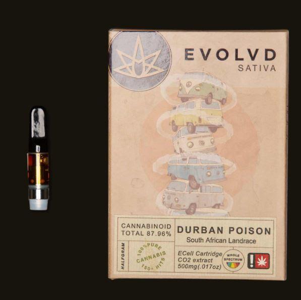 Buy High THC Durban Poison Cartridge