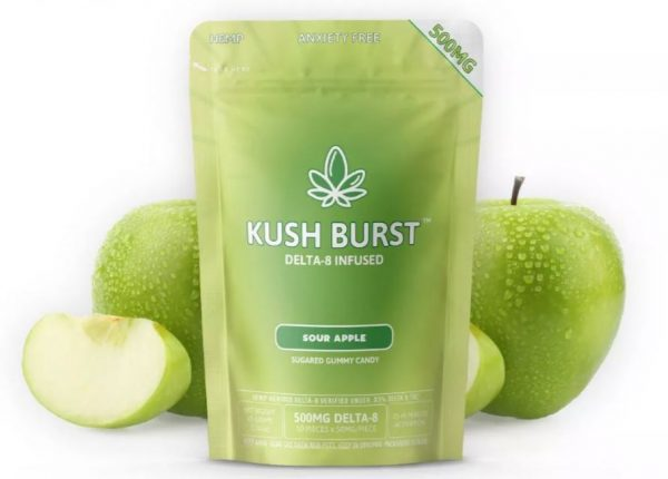 Delta 8 THC Gummies Kush Burst Sour Apple