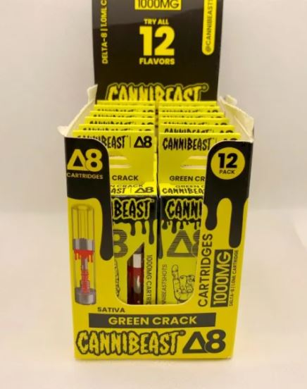 Green Crack Sativa Cannibeast Delta 8 Cartridge